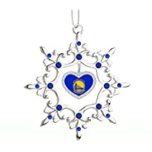 Golden State Warriors Snowflake Christmas Tree Ornament