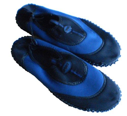 Mens Royal Deluxe Navy & Black Aqua Shoes Blu Navy
