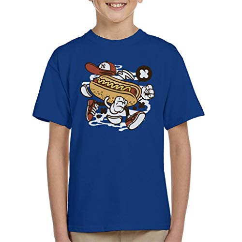Price comparison product image Walking Hot Dog Kid's T-Shirt Royal Blue