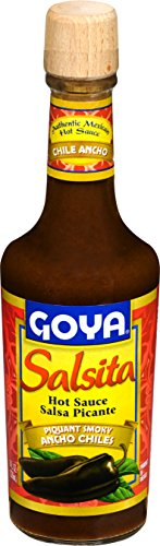 Goya Foods Salsita Hot Sauce, Piquant Smoky Ancho Chiles, 8 Ounce (Pack of 12)