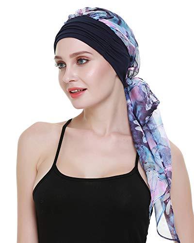 Chemo Turbans For Cancer Patients Headwrap Scarves Alopecia Women Headwear