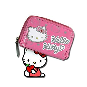 Amazon.com: Hello Kitty cierre de cremallera Around Wallet ...