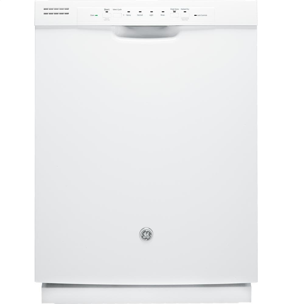 GE DISHWASHERS 290053 Built-In 24'' Dishwasher with Front Controls, White, 4 Cycles / 3 Options