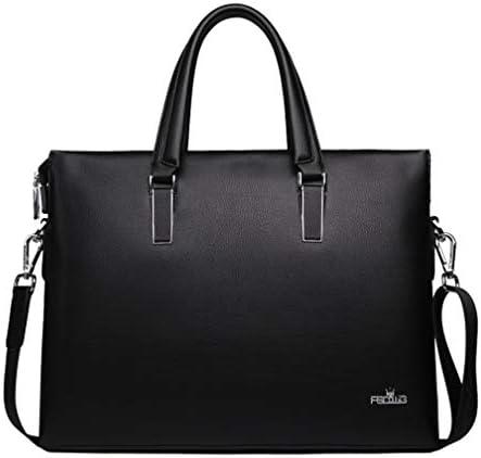 男性の革のハンドバッグのメッセンジャーバッグビジネスブリーフケース