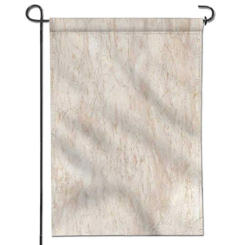 Jiahonghome Garden Flag Stone Italian Marble Warm Cream House Flag Decoration Double Sided Flag 18