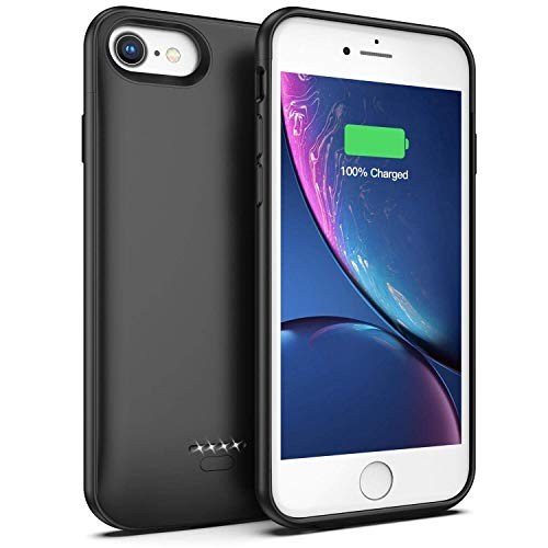 Led Charging Indicator - inDigi 4000mAh iPhone 8 Rechargeable Battery Case 360 Protection - LED Charging Indicator - Magnetized Back