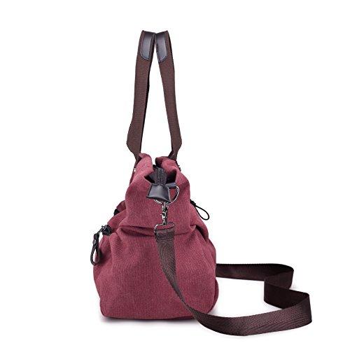 Totes Travel Bag Handbag Purses Shoulder Canvas Bag Bag Women's Black Messenger Lonson FxIq4Tx