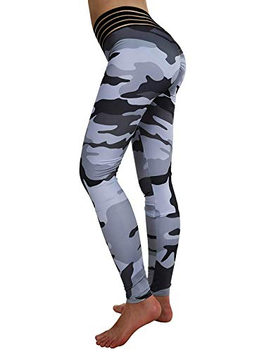 Meilidress Womens Ruched Butt Lifting Leggings High Waisted Workout Sport Tummy Control Gym Yoga Pants (Small, 2-Camouflage) ()