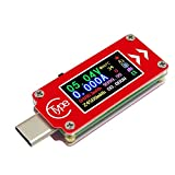 softwind Type-c Multifunction USB Tester Fast Charging Voltammeter Capacity Temperature Measuring Instrument - High-Definition Color LCD Display