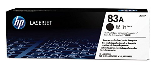 HP 83A (CF283A) Black Toner Cartridge for HP LaserJet Pro M201 M201dw M125 M127 M225dn M225dw by HP
