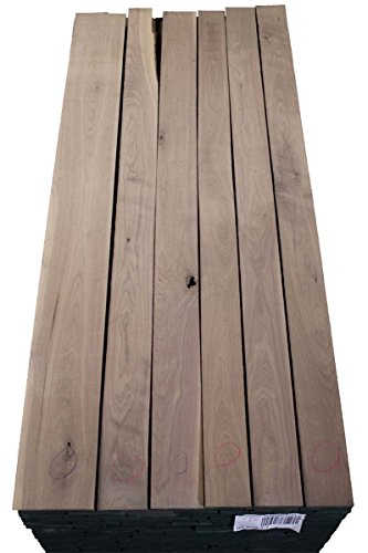 Walnut Rough Sawn Wood Board Lumber, 4 in Wide x 1 ft Length x 1 in Thick - Choose Your Size (Walnut Lumber Wood)