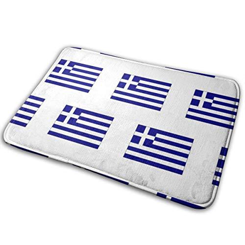 YANAIX Greek Flag Small_1027 Doormats Bath Rugs Outdoor/Indoor Carpet Bathroom Decor Rug 16