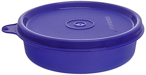 Signoraware Executive Small Round Container, 180ml, Deep Violet