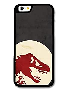 Jurassic Park Red Dinosaur Minimalist Illustration case for iPhone 6 A10887 by supermalls