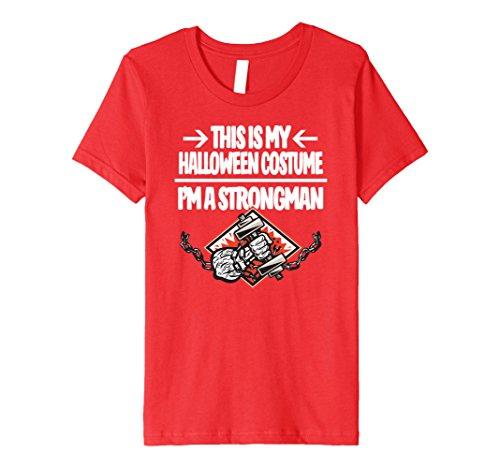 Kids Strongman Halloween Costume Tshirt - Men Women Youth 10 (Strongman Costume Kids)