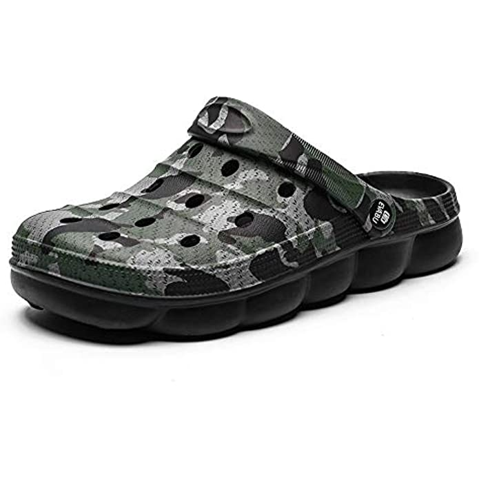 YUKTOPA Mens Garden Clogs Mules Anti-Slip Water Shoes Breathable Sandals Outdoor Beach Shower Slippers