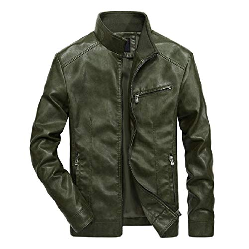 Biker Faux Leather Mens Solid Jacket Motorcycle Casual 2 Leisure Pu XINHEO Leather I4wSq