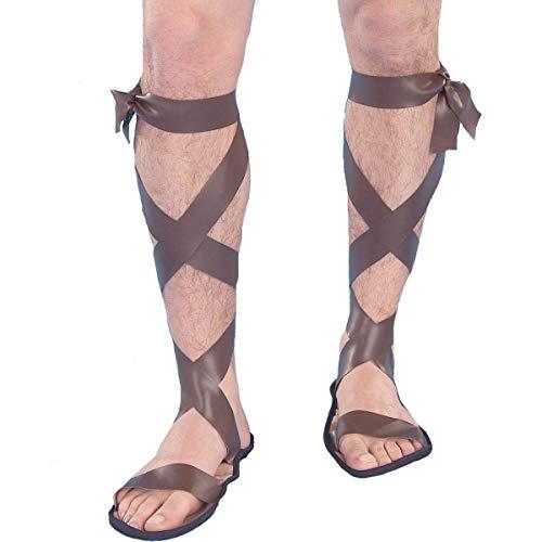 Forum Novelties Men's Novelty Wise Man Roman Sandals, Brown, One Size for $<!--$6.16-->