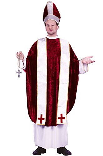 Cardinal Catholic Church Pope Adult Costume