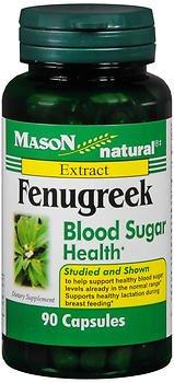 Fenugreek Blood Sugar - Mason Natural Fenugreek Blood Sugar Health - 90 Capsules, Pack of 2