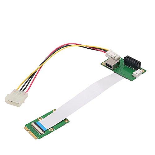 RingBuu Express PCI-E to PCI-E Mini 1X Extension Cord Adapter Card with USB Riser Card by RingBuu (Image #2)