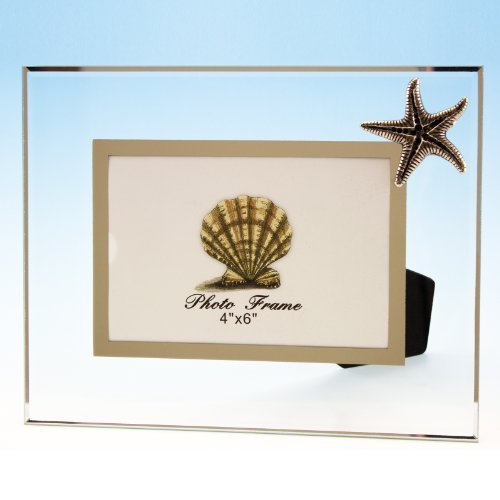 - Beachcombers Glass and Pewter Photo Frame with Starfish - Holds One 4