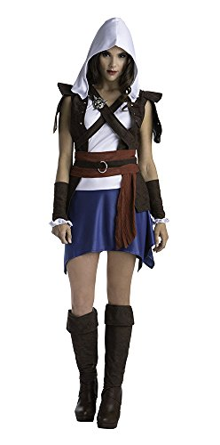 Palamon Women's Assassin's Creed Sassy Edward Classic Costume, Blue, Medium (Assassin Halloween Costumes)