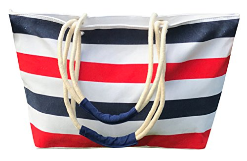 Striped Bag (Red & Blue) by Olive & Lills