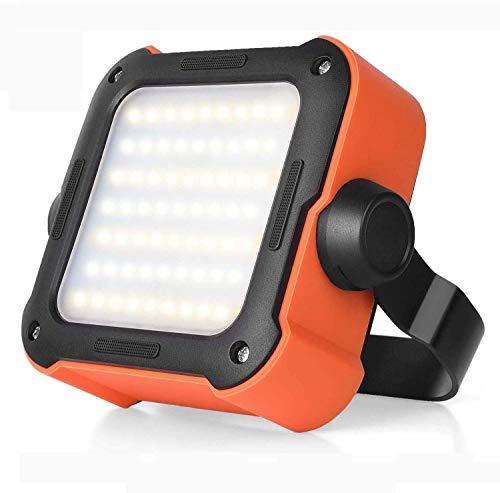 Led Strahler Akku, Arbeitsleuchte Led Akku Campinglampe mit 10000mAh Powerbank USB Wiederaufladbare Tragbar Outdoor…