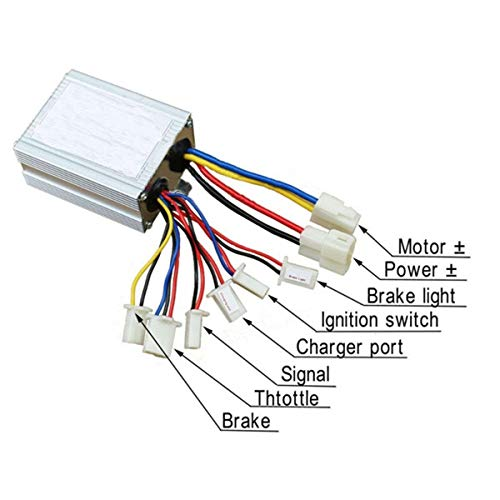 Sala Ctr Dc 24v 500w Brushed Controller Electric Scooter Throttle Golf Cart Diagram: Ez Wire 20 Circuit Fuse Panel Diagram At Teydeco.co