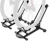 Bikehand Repacked Bicycle Floor Type Parking Rack Stand - for Mountain and Road Bike Indoor Outdoor Nook Garage Storage Pack of 2