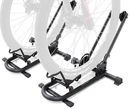 BIKEHAND Bicycle Floor Type Parking Rack Stand - for Mountain and Road Bike Indoor Outdoor Nook Garage Storage Pack of 2