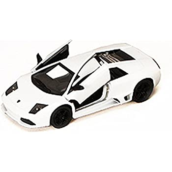 Lamborghini Murcielago LP640, White - Kinsmart 5317D - 1/36 scale Diecast Model Toy Car