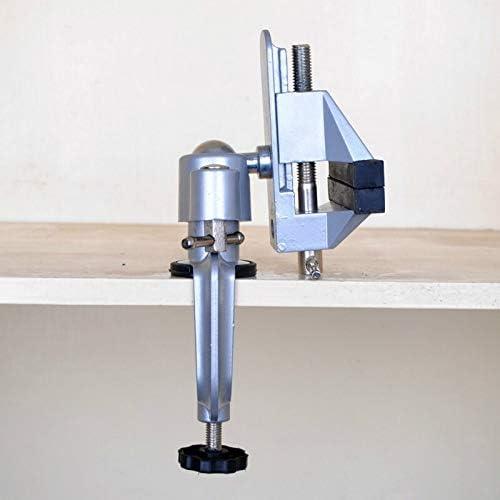 GENERICS LSB-Werkzeuge, 360-Grad-Drehtischschraubstock Multifunktionale drehbare Schraubstockklemme aus Aluminiumlegierung Bohrständer-Drehwerkzeuge