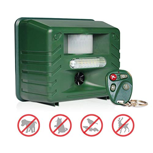 Yard Sentinel RC Ultrasonic Animal Pest Repeller with Motion Detector, 4...
