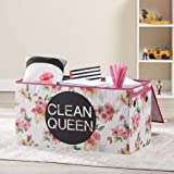 Make Cleanup of Toys Fun and Easy for Kids with Lightweight,Durable and Adorable Mainstays Kids Collapsible Soft Storage Toy Trunk,Clean Queen