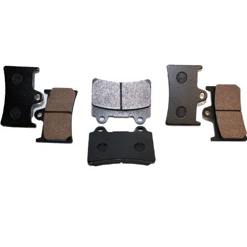 Caltric FRONT REAR BRAKE Pads Fits YAMAHA XV1700 XV 1700 ROAD STAR XV17A XV 17A MIDNIGHT SILVERADO 2004-2007 (2005 Yamaha Road Star)