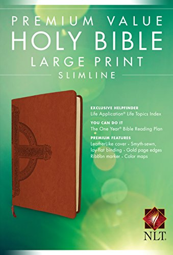 Premium Value Slimline Bible Large Print NLT, - Premium Malls Outlet