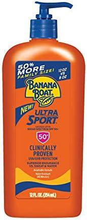 Banana Boat Ultra Sport Reef Friendly Sunscreen Lotion, Broad Spectrum SPF 50, 12 Ounces