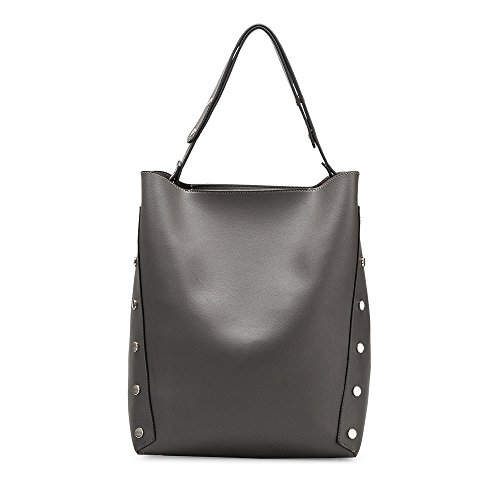 Melie Bianco Patrice Shoulder Bag Vegan Leather Tote Handbag - Gray (Melie Bianco Handbag Tote)