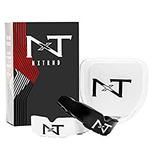NXTRND Rush Sports Mouth Guard – 2 Pack of Professional Moldable Contact Sports Mouthguards, Case and Pouch Included