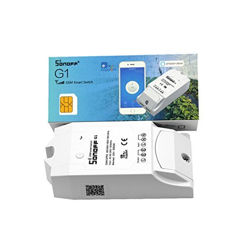 Sonoff G1 smart timer switch controlled by mobile phone app via GPRS network suitable for water pump outdoor lights on/off control use