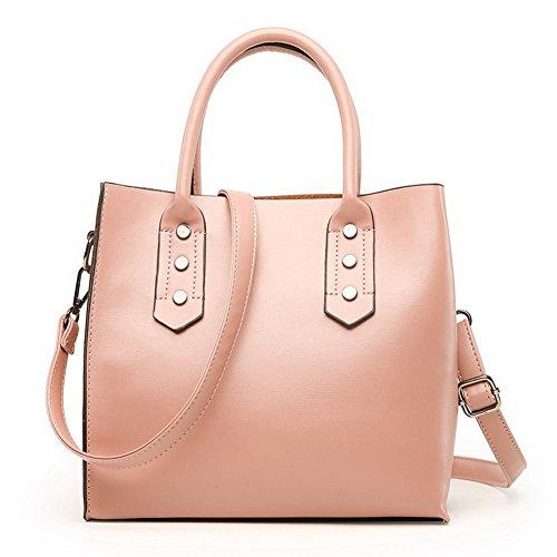 Borse Rosa Casuale Moda Odomolor tracolla a tracolla Donna Rosa Borse a Costellato ROIBL181283 U0w1x4Pq