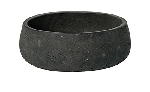 Low Planter Pot Fiberstone Elegant Black Washed 4″ H x 9.5″ – By Pottery Pots Review
