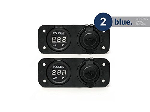 Five Oceans Combination Voltmeter and Dual USB Panel, Pair FO-3842-M2 by Five Oceans