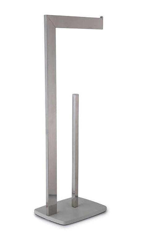freistehender toilettenpapierhalter und aufbewahrungsstnder acqua trinity - Moderner Freistehender Toilettenpapierhalter