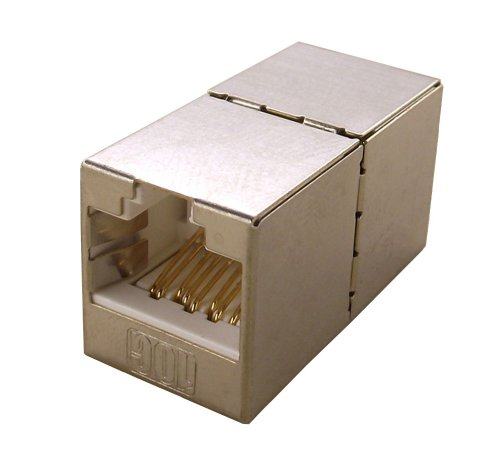 - Shaxon BM803SH-IC8-B, Category 6 Shielded Keystone Modular Feed Through Coupler, RJ45-RJ45