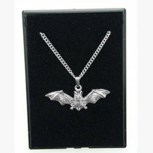 Fine Quality English Pewter Pendant Necklace Gift, Bat Design