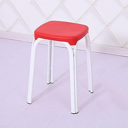 Shoe stool LUYIASI- Banco de Engrosamiento de plástico casero Mesa y Taburete de Adulto para