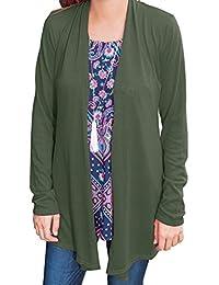 Ya Lida Women's Light Weight Open long sleeved cardigan jacket